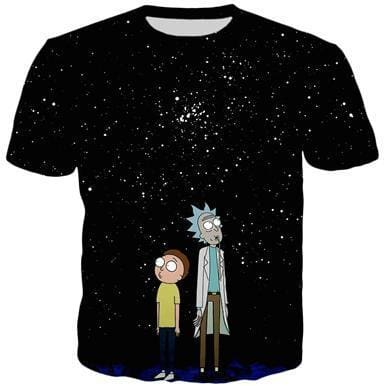 Rick And Morty Shirts - Spaced Out - Anime Clothes