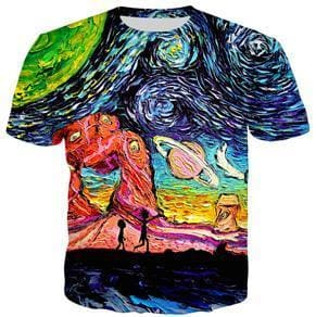 Rick And Morty Shirts - Trippin In Space - Anime Clothes