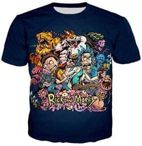 Rick And Morty Shirts - Twisted Characters - Anime Clothes