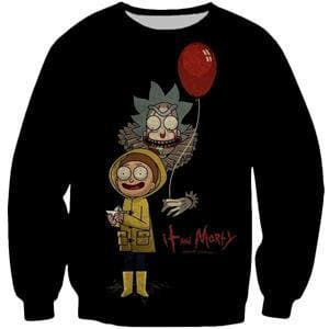 Rick and Morty Sweatshirt - IT The Clown - Anime Clothes