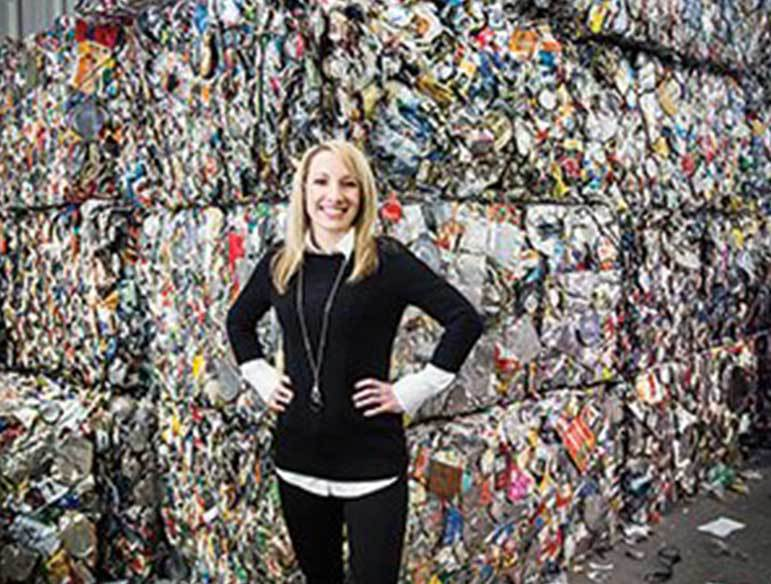 Talking Trash: Danielle Pellitteri recycles family's success