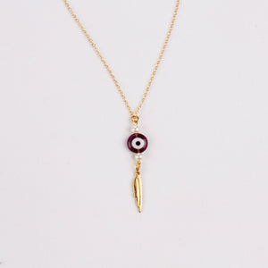 COLLAR EVIL EYE & FEATHER SS2020