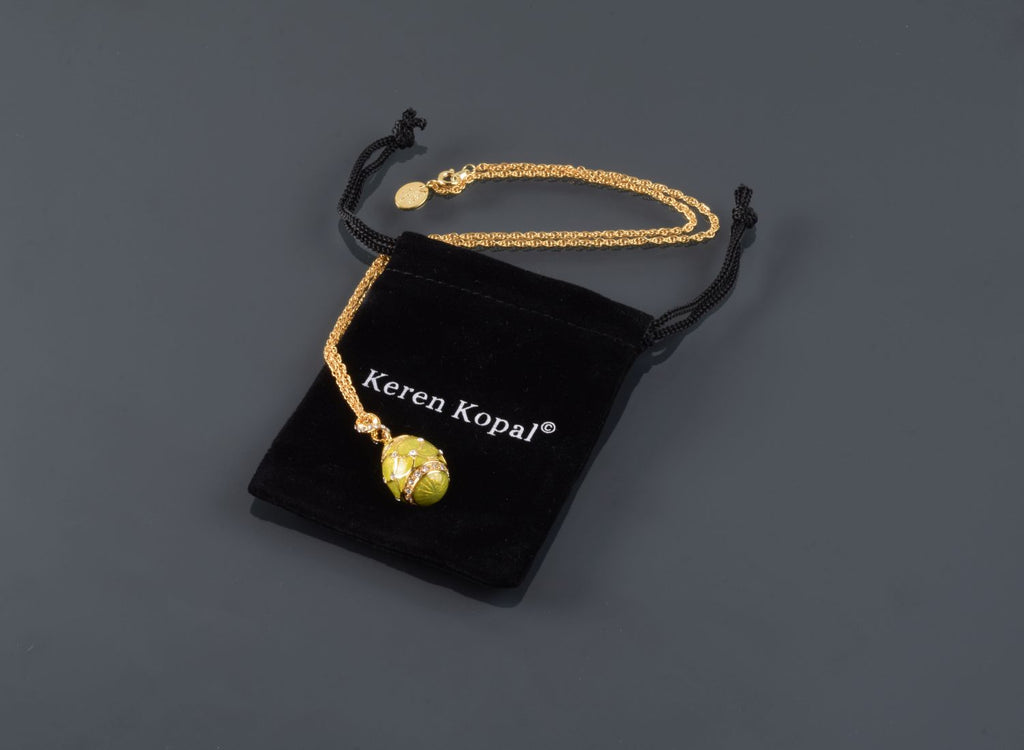 Yellow Egg Pendant Necklace