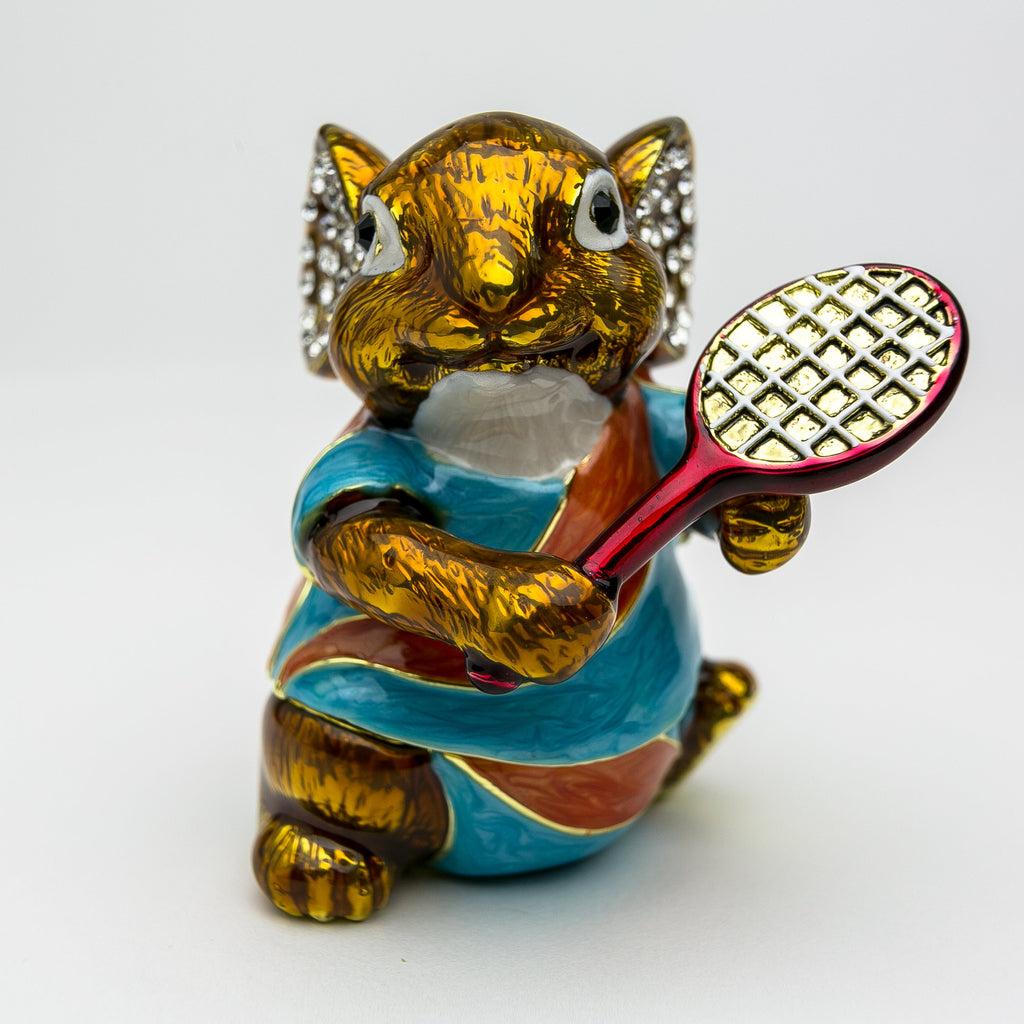 Mouse Playing Tennis