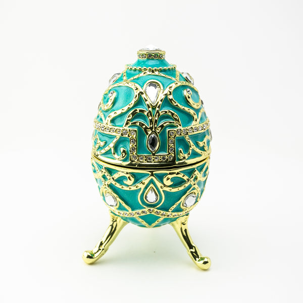 Turquoise Music Playing Russian Egg