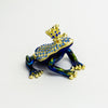Blue Frog with Crown