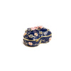 Blue Decorative Trinket Box with Flowers