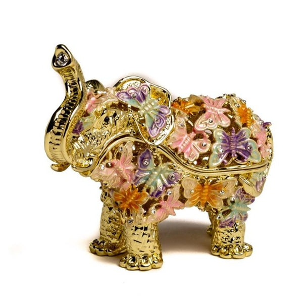 Golden Elephant Decorated with butterflies