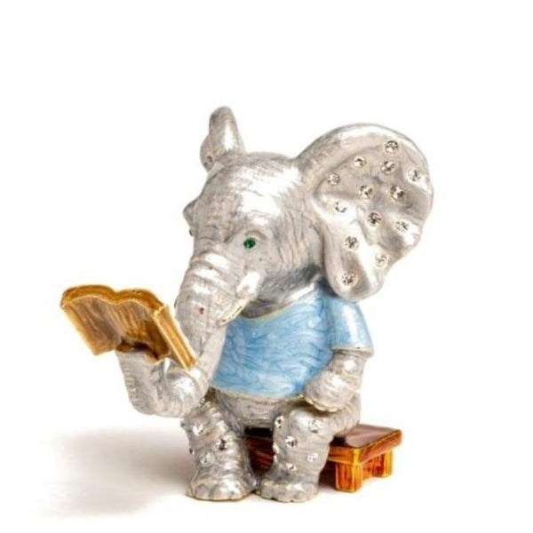Elephant Sitting and Reading a Book Baby Shower Keren Kopal