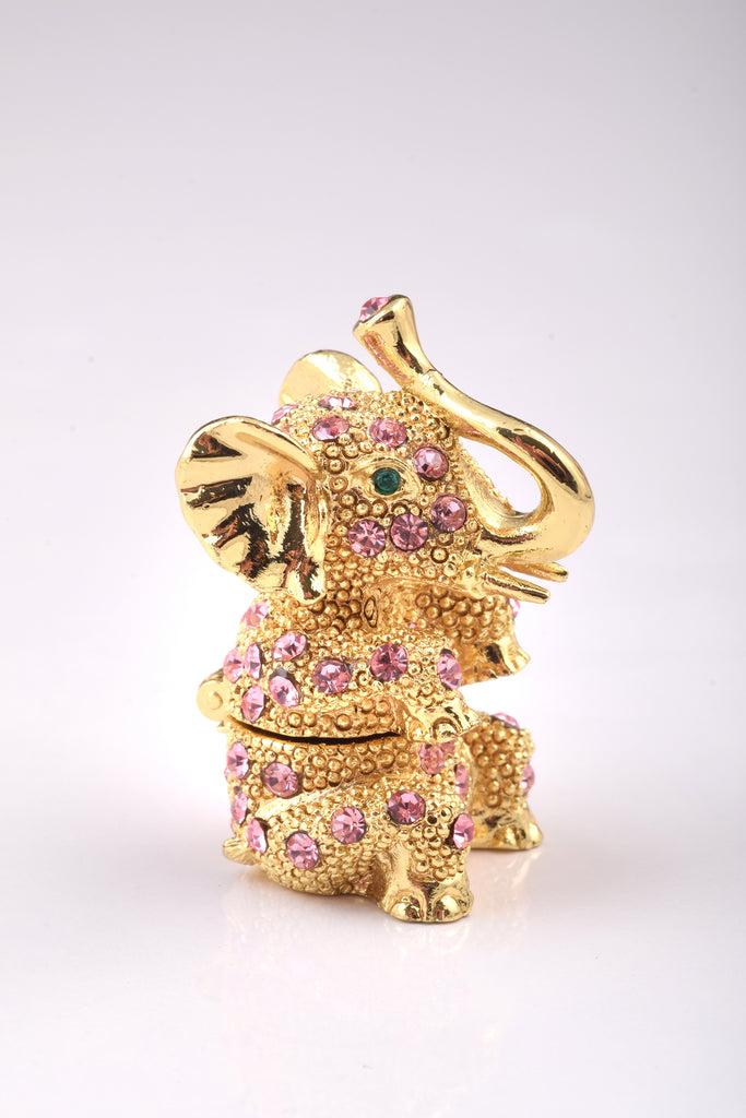 Pink Faberge Egg with Elephant Inside