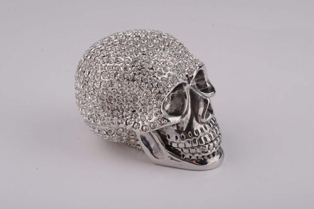 Silver Decorated Skull