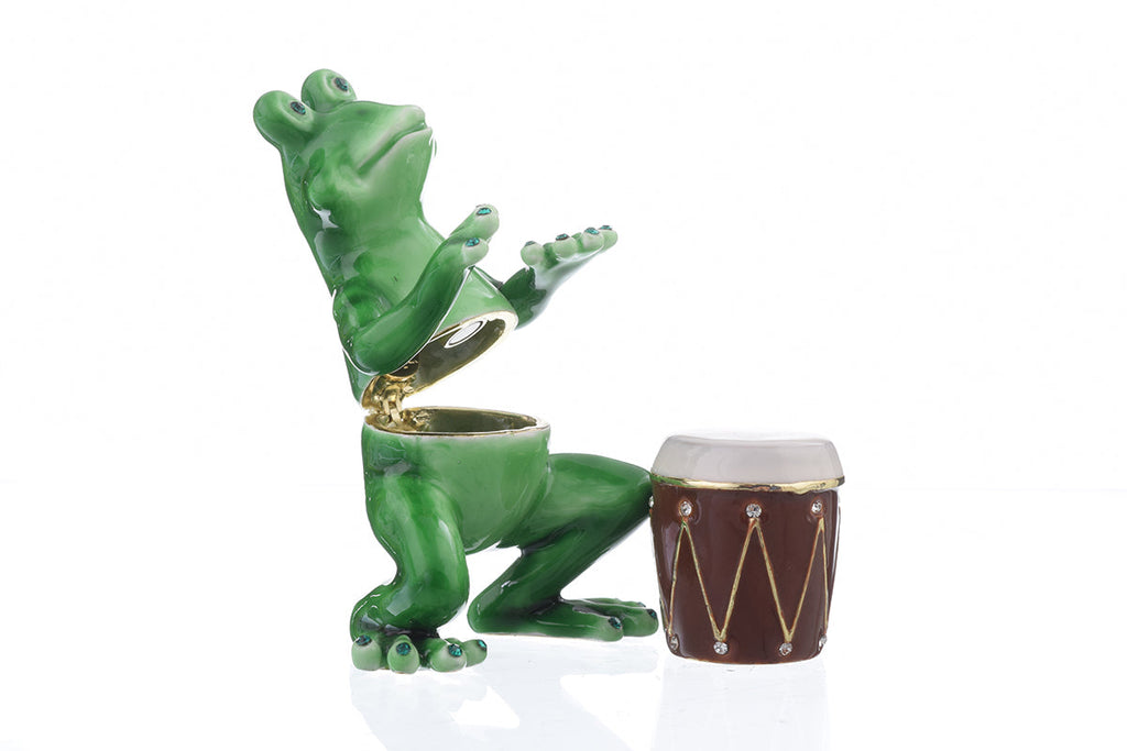 Frog Playing Drums