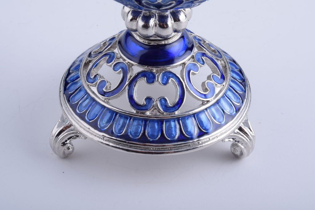 Silver & Blue Faberge Egg