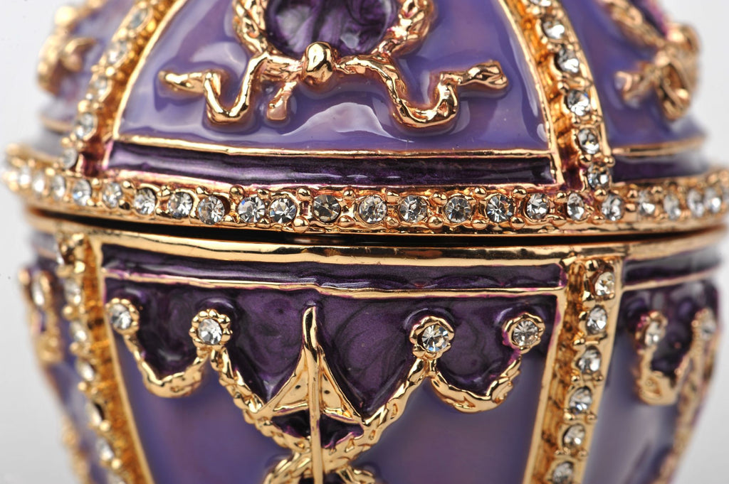 Keren Kopal Purple Faberge Egg with Pearl on top  72.00