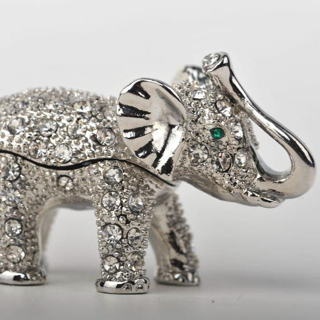 Keren Kopal Silver Elephant with Green Eyes  36.50