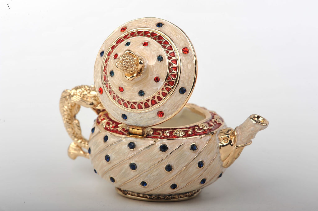 Keren Kopal White with Colorful Dots Teapot  55.75