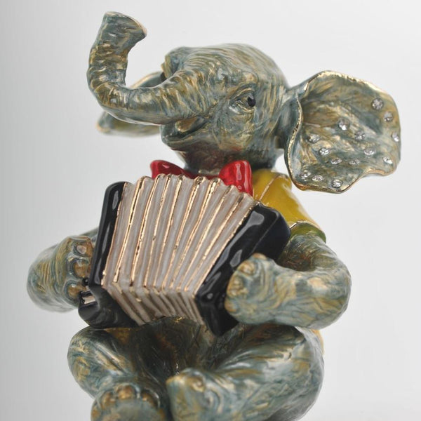 Keren Kopal Elephant Playing the Accordion trinket box 83.50