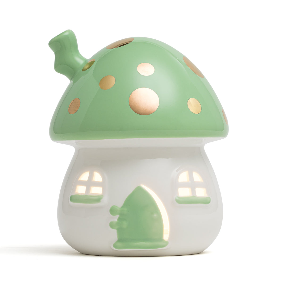 Fairy House Nightlight Green