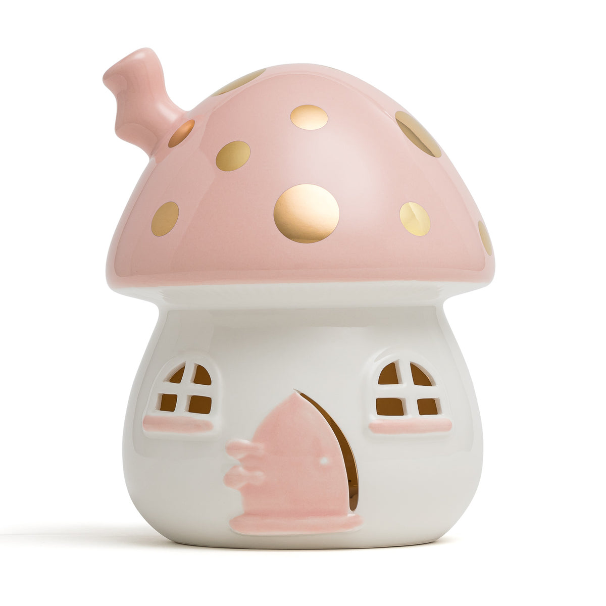 Fairy House Nightlight Pink & Gold Handmade