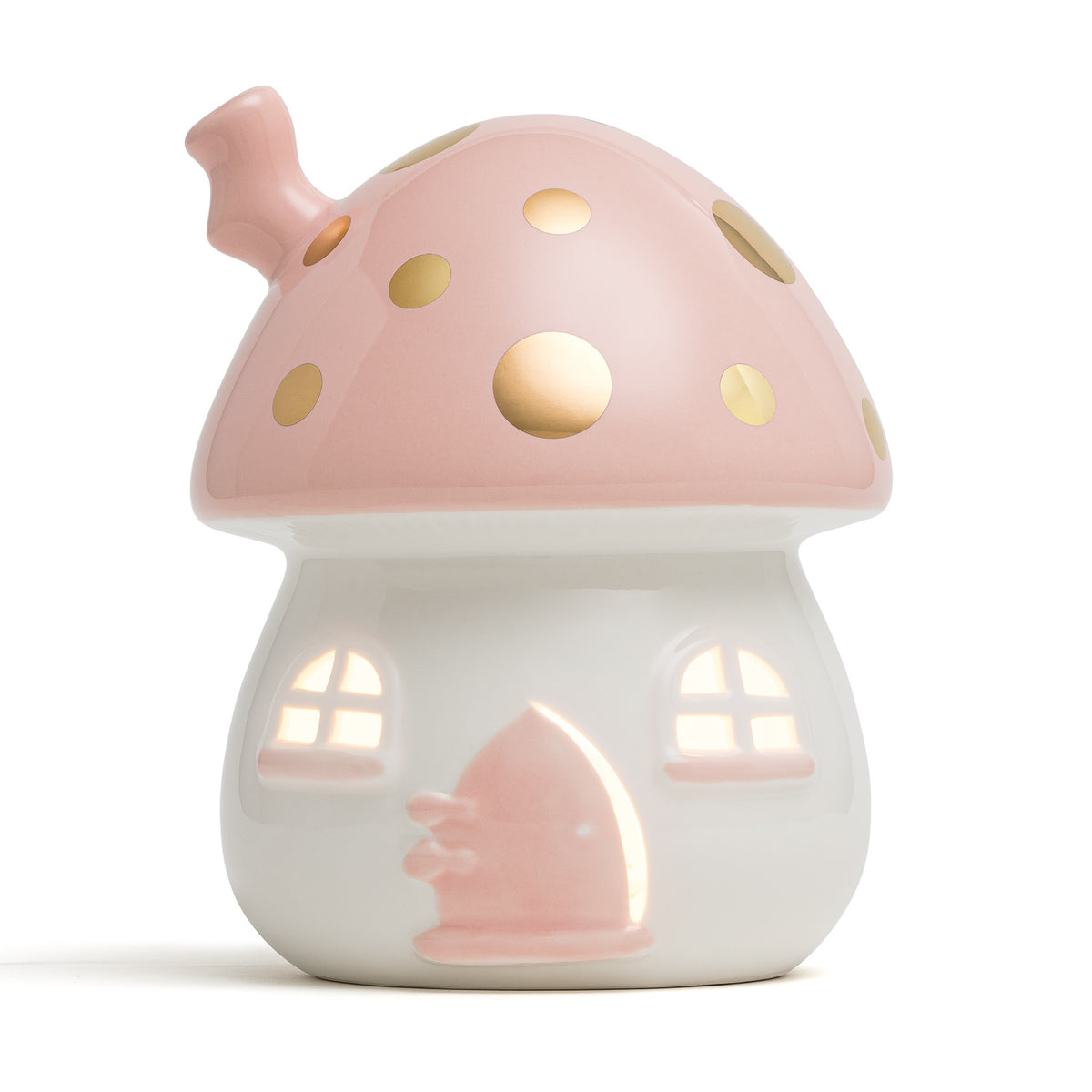 Fairy House Nightlight Pink & Gold
