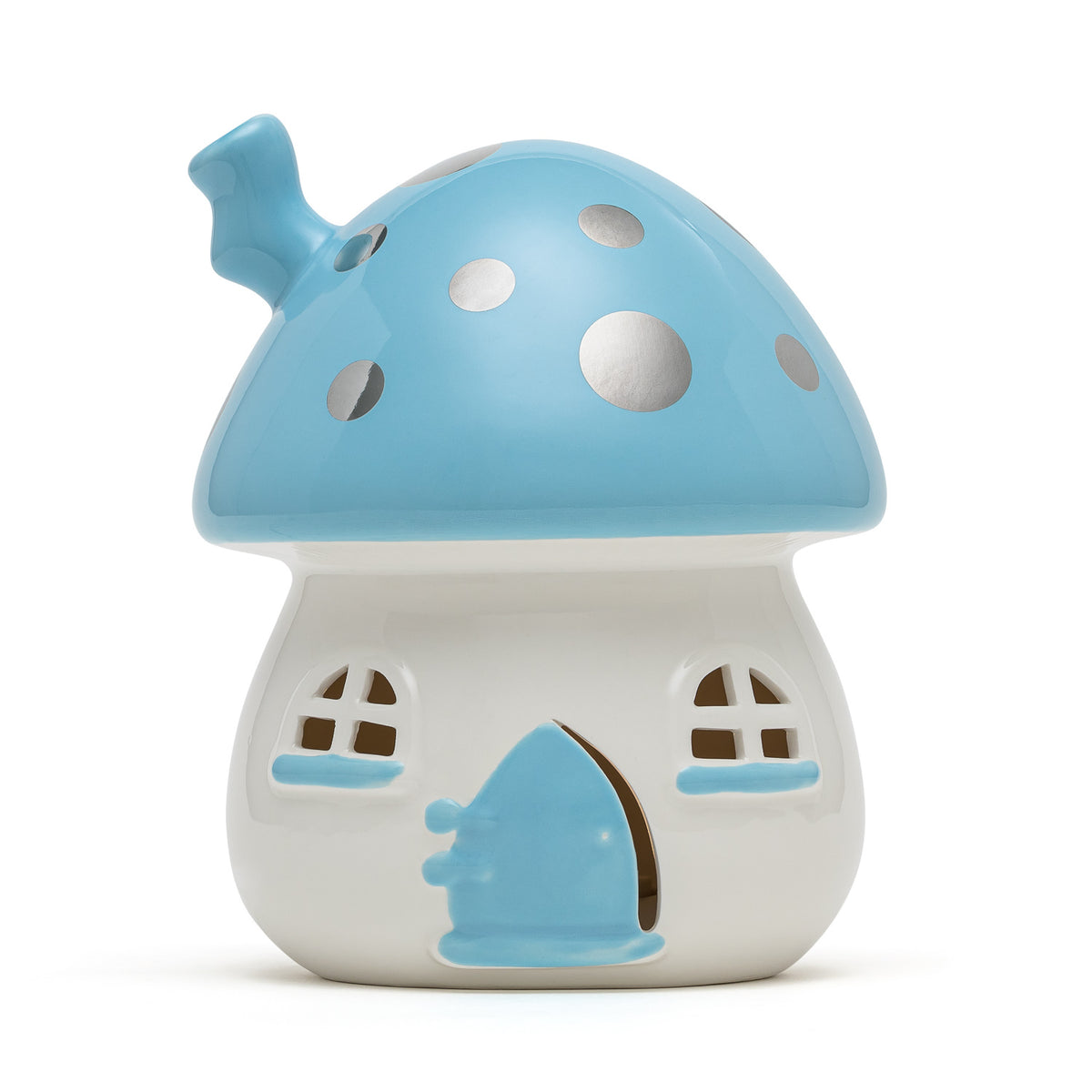 Fairy House Nightlight Blue Handmade