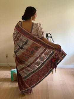 Mauve Kani Saree - Kashmir Collection - sohum sutras