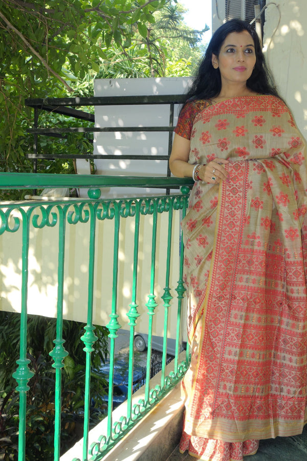 Assam Silk Saree by Sohum Sutras