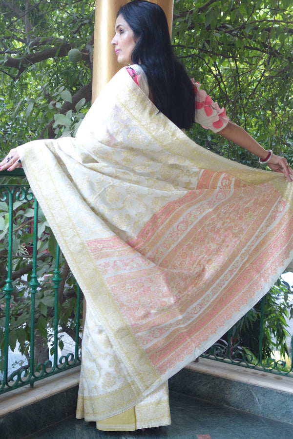 Pashmina Cotton Kani saree from Sohum Sutras