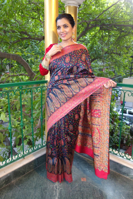 Black Kani Saree