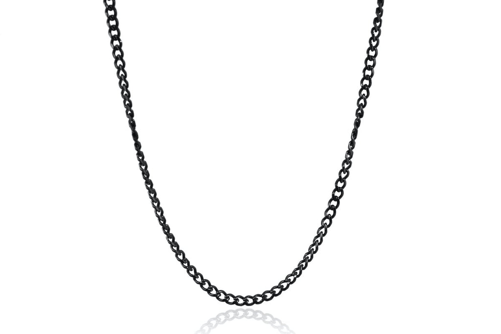 Pendant - Cuban Chain (Black) 4mm