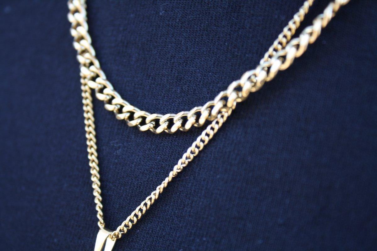 Pendant - Cuban Chain (Gold) 4mm