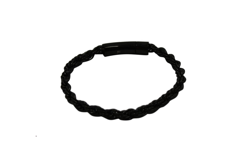 Pendant - Rope Bracelet (Black) 6mm