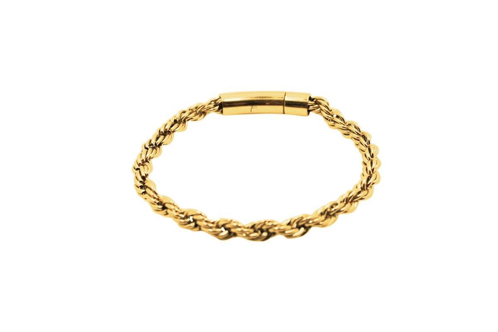 Pendant - Rope Bracelet (Gold) 6mm