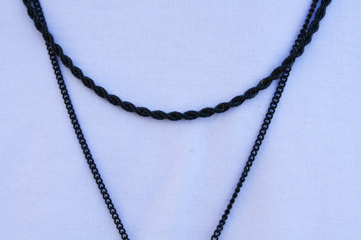 Pendant - Rope Chain (Black) 3mm