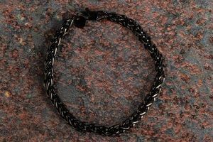 Pendant - Wheat Bracelet (Black) 6mm