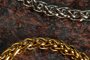 Pendant - Wheat Bracelet (Silver) 6mm