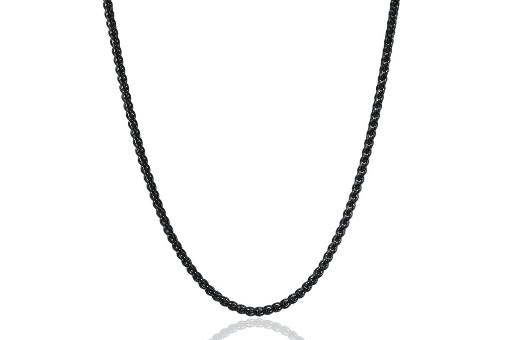 Pendant - Wheat Chain (Black) 3mm