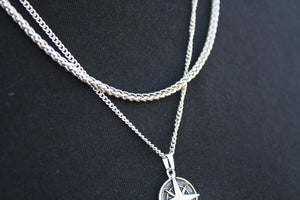 Pendant - Wheat Chain (Silver) 3mm