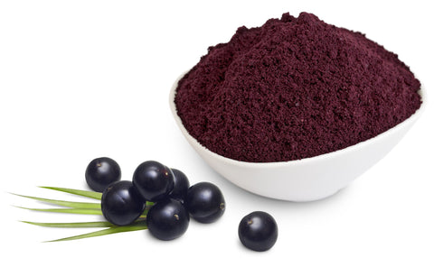 acai powder and berries