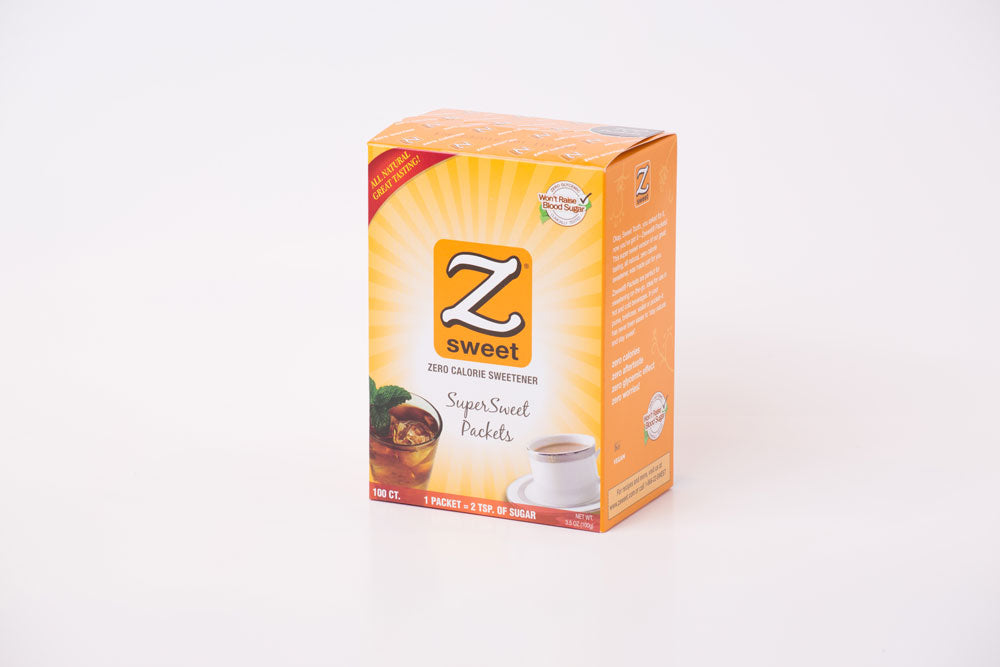 Individual Zsweet® All-Natural SuperSweet Packets- 100 ct box (Pack of 2)