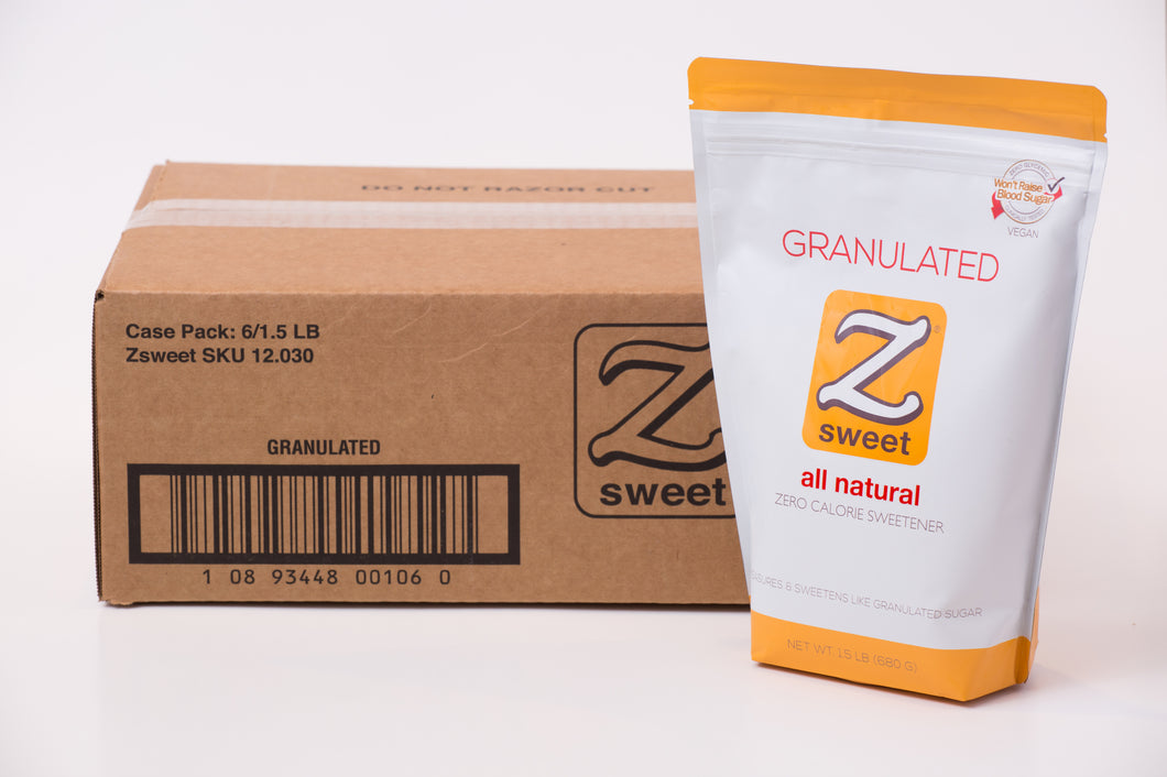 Zsweet® All-Natural Granulated Sweetener Case (6 Pouches)