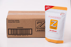 Zsweet® All-Natural Powdered Sugar Substitute Case (6 Pouches)