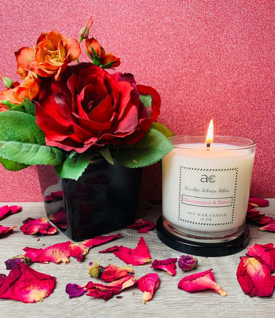 Champagne &  Roses Soy Candle - April Etoye