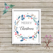 Load image into Gallery viewer, Merry Christmas Printable