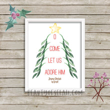 Load image into Gallery viewer, O come let us adore Him Printable