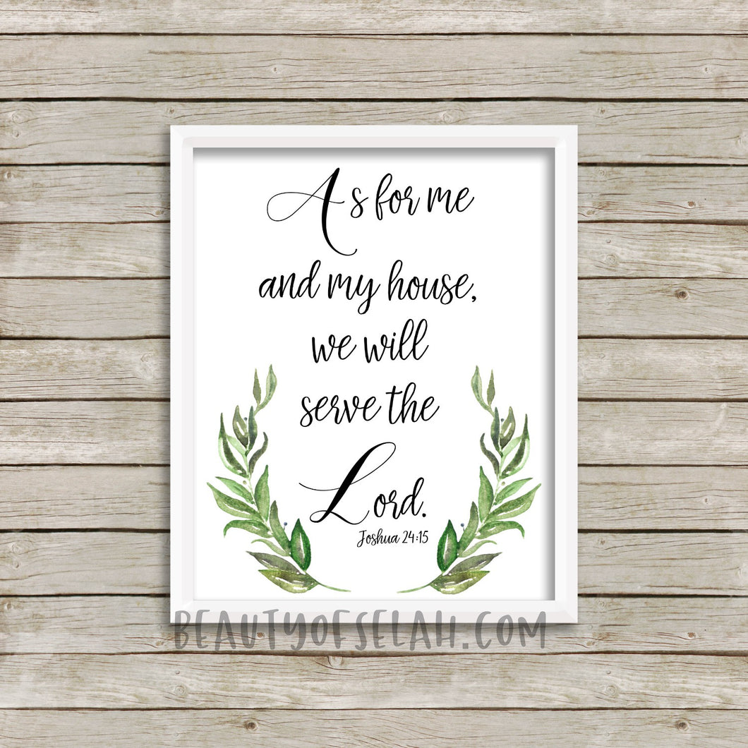 As for me and my house printable