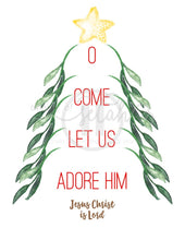 Load image into Gallery viewer, O Come Let Us Adore Him Print Christmas Printables