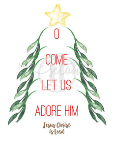 O Come Let Us Adore Him Print Christmas Printables