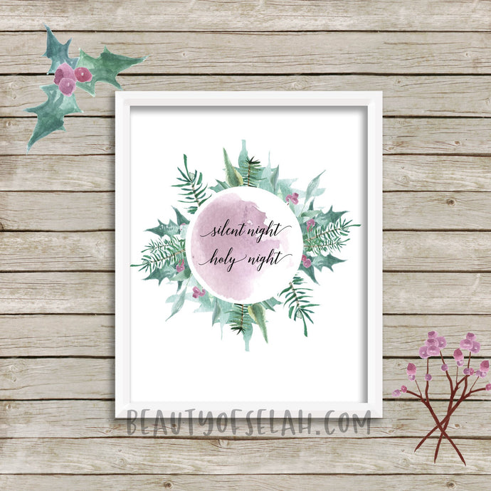Silent night printable