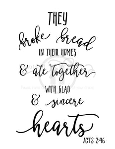 The Broke Bread Print Christian Printables